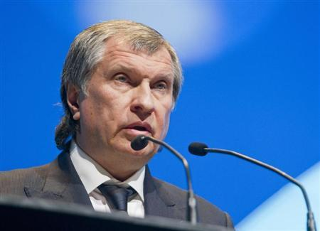 Rosneft President and Chairman of the Managing Board Igor Sechin speaks during the IHS CERAWeek energy conference in Houston March 6, 2013. REUTERS/Richard Carson