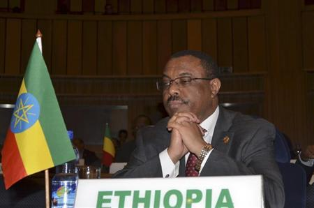 Ethiopian Prime Minister Hailemariam Desalegn attends the African Peer Review Mechanism (APRM) at the African Union (AU) headquarters in Ethiopian capital Addis Ababa January 26, 2013. REUTERS/Tiksa Negeri