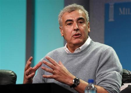 Marc Lasry, chairman and CEO and co-founder, Avenue Capital Group takes part in a panel discussion titled ''Alternative Investments: Where Do the Next Great Returns Lie?'' at the Milken Institute Global Conference in Beverly Hills, California May 2, 2012. REUTERS/Fred Prouser