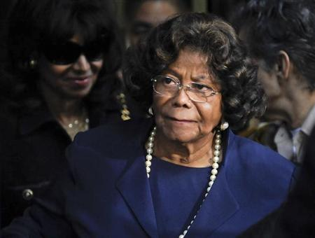 Michael Jackson's mother Katherine Jackson leaves the sentencing hearing of Dr. Conrad Murray, who was convicted of involuntary manslaughter in the death of pop star Michael Jackson, in Los Angeles California November 29, 2011. REUTERS/Gus Ruelas