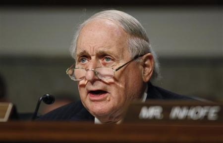Committee Chairman Carl Levin (D-MI) is seen during a Senate Armed Services Committee hearing on the nomination of former Sen. Chuck Hagel (R-NE) to be U.S. Secretary of Defense on Capitol Hill in Washington, January 31, 2013. REUTERS/Larry Downing