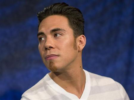 Olympic speed skater Apolo Ohno is seen in New York April 24, 2013. REUTERS/Shannon Stapleton