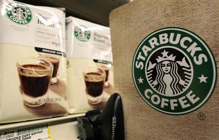 Packets of Starbucks coffee are seen in a supermarket in Santa Monica, California, January 27, 2011. REUTERS/Lucy Nicholson