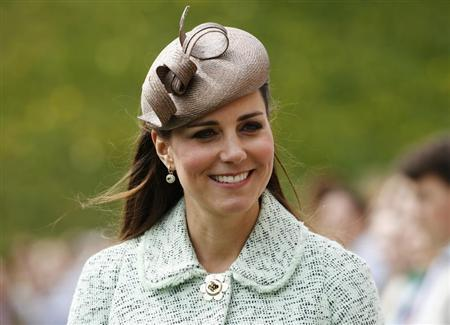 Britain's Catherine, Duchess of Cambridge attends the National Review of Queen's Scouts at Windsor Castle in Berkshire, near London April 21, 2013. REUTERS/Olivia Harris