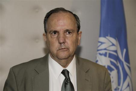 UN Special Rapporteur on torture for the United Nations Juan Mendez speaks during a news conference in Rabat September 22, 2012. REUTERS/Stringer