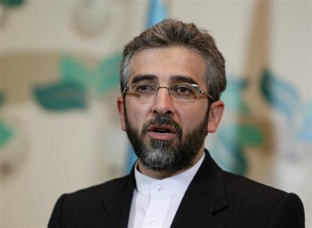 Iran's deputy negotiator Ali Bagheri speaks during a news conference in Almaty April 5, 2013. REUTERS/Shamil Zhumatov