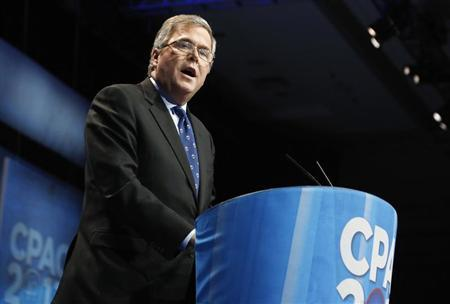 Former Florida Governor Jeb Bush (R-FL) delivers remarks to the Conservative Political Action Conference (CPAC) in National Harbor, Maryland, March 15, 2013. REUTERS/Jonathan Ernst