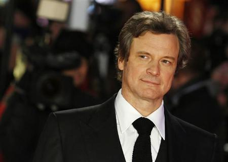 Cast member Colin Firth arrives for the world premiere of the film ''Gambit'' at Leicester Square in London November 7, 2012. REUTERS/Luke MacGregor