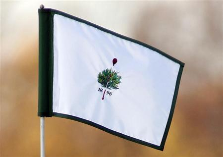 The Merion Golf club logo is displayed on a hole flag at the Merion Golf club in Haverford, Pennsylvania, November 17, 2010. REUTERS/Tim Shaffer