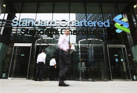 An exterior view of the Standard Chartered headquarters is seen in London August 7, 2012. REUTERS/Olivia Harris/Files