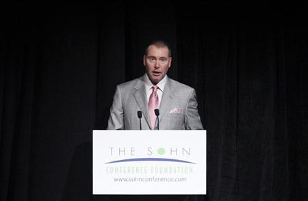 CEO and CIO of DoubleLine Capital Jeffrey Gundlach speaks during the Sohn Investment Conference in New York, May 16, 2012. REUTERS/Eduardo Munoz