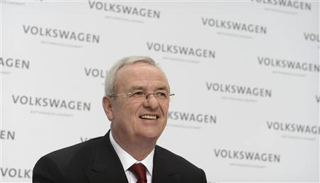 Martin Winterkorn, CEO of German carmaker Volkswagen addresses the annual news conference in Wolfsburg, March 14, 2013. REUTERS/Fabian Bimmer