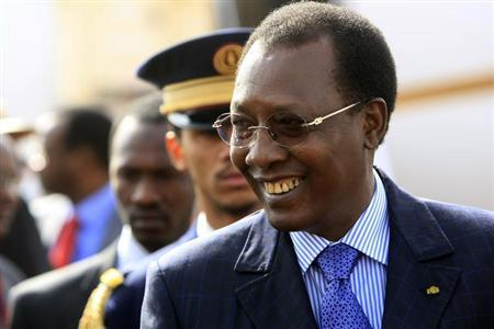 Chad's President Idriss Deby smiles as he arrives to launch the Darfur Regional Authority at El Fasher airport, February 8, 2012. REUTERS/Mohamed Nureldin Abdallah