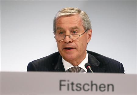 Juergen Fitschen, Co-CEO of Deutsche Bank AG speaks during an extraordinary shareholders meeting in Frankfurt April 11, 2013. REUTERS/Ralph Orlowski