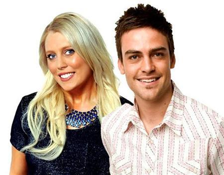 2day FM radio hosts Mel Greig (L) and Michael Christian, pose in Sydney in this picture obtained by Reuters on December 8, 2012. REUTERS/Southern Cross Austereo/Handout