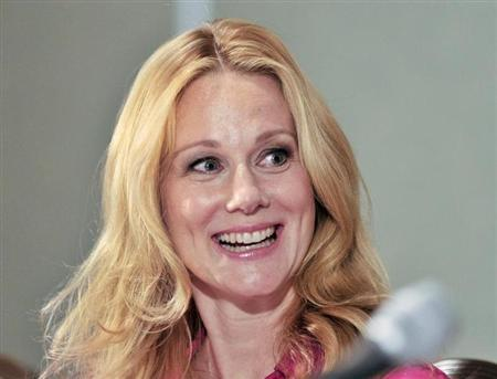 Actress Laura Linney smiles during the news conference for the film ''Hyde Park on Hudson'' at the 37th Toronto International Film Festival September 10, 2012. REUTERS/Mike Cassese