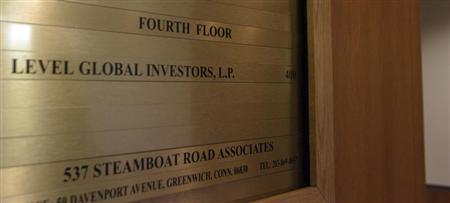 A sign shows that Level Global Investors LP. occupies the fourth floor of this building in Greenwich, Connecticut November 22, 2010. REUTERS/ Michelle McLoughlin