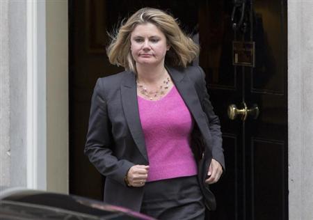 International Development Secretary Justine Greening leaves Downing Street in London, September 4, 2012. REUTERS/Neil Hall