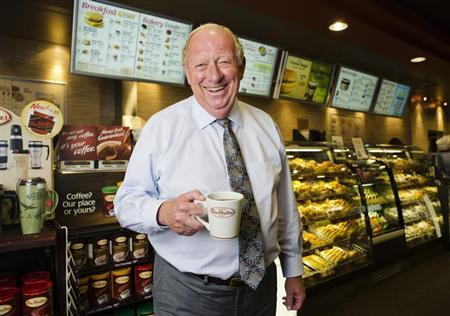 Tim Hortons Inc interim Chief Executive Paul House poses for a portrait at a Tim Hortons coffee shop in Toronto July 12, 2012. REUTERS/Mark Blinch