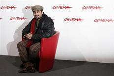 "India's movie director Anurag Kashyap poses during a photo call to present his latest movie ""No Smoking"" at the Rome International Film Festival October 24, 2007. REUTERS/Dario Pignatelli"