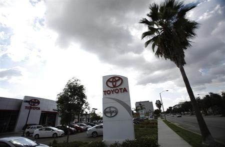 A Toyota car dealership is pictured in Pasadena, California October 10, 2012. REUTERS/Mario Anzuoni