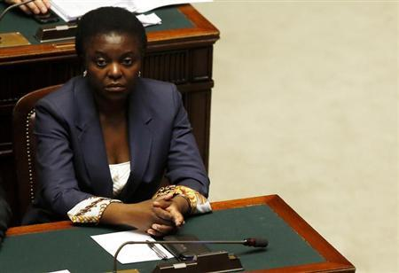 Congo-born Italian Minister for Integration Cecile Kyenge attends at the Lower house of the parliament in Rome, April 29, 2013. REUTERS/ Alessandro Bianchi