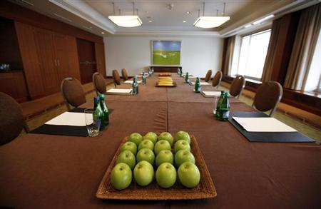 A view of a conference room at the Hyatt Regency Hotel in Warsaw, March 16, 2012. REUTERS/Kacper Pempel