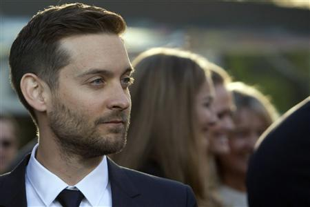 Actor Tobey Maguire attends the 'The Great Gatsby' world premiere at Avery Fisher Hall at Lincoln Center for the Performing Arts in New York May 1, 2013. REUTERS/Andrew Kelly