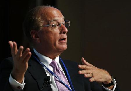BlackRock Chairman and Chief Executive Officer Laurence Fink speaks during a programme of seminars at the Annual Meetings of the International Monetary Fund (IMF) and the World Bank Group in Tokyo October 10, 2012. REUTERS/Toru Hanai