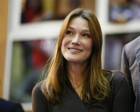 France's former First Lady Carla Bruni-Sarkozy attends the 152nd Hospices de Beaune 2012 Burgundy Wine Auction at the Hotel de Dieu in Beaune November 18, 2012. REUTERS/Emmanuel Foudrot