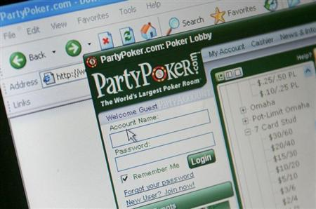 A computer screen displays an online gambling website, October 2, 2006. REUTERS/Toby Melville