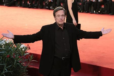 Director William Friedkin gestures during a red carpet for his film ''Killer Joe'' at the 68th Venice Film Festival September 8, 2011. REUTERS/Alessandro Bianchi
