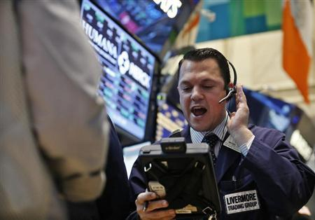 A trader works on the floor at the New York Stock Exchange, May 3, 2013. REUTERS/Brendan McDermid