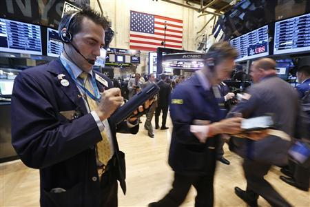 Traders work on the floor at the New York Stock Exchange, May 3, 2013. REUTERS/Brendan McDermid