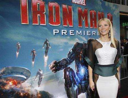 Cast member Gwyneth Paltrow poses at the premiere of ''Iron Man 3'' at El Capitan theatre in Hollywood, California April 24, 2013. REUTERS/Mario Anzuoni
