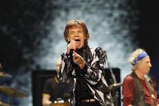 "Mick Jagger of British band The Rolling Stones performs during the opening night of their ""50 & Counting"" worldwide tour at Staples Center in Los Angeles, California May 3, 2013. REUTERS/Mario Anzuoni"