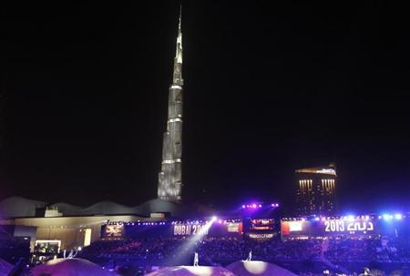 A view shows the Burj Khalifa, the tallest tower in the word, in Dubai April 12, 2013. REUTERS/Ahmed Jadallah