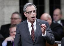Canada's Natural Resources Minister Joe Oliver speaks during Question Period in the House of Commons on Parliament Hill in Ottawa March 26, 2013. REUTERS/Chris Wattie