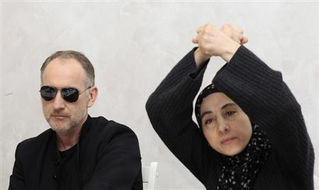 Anzor Tsarnaev (L) and Zubeidat Tsarnaeva, parents of Tamerlan and Dzhokhar Tsarnaev - the two men suspected of carrying out the Boston bombings, take part in a news conference in Makhachkala April 25, 2013. REUTERS/Stringer