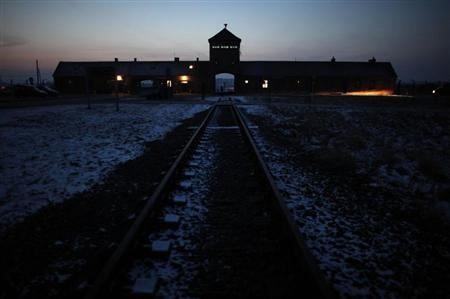 A view of the former Nazi death camp of Auschwitz Birkenau during the marking the 67th anniversary of the liberation of the camp by Soviet troops and to remember the victims of the Holocaust, in Auschwitz Birkenau January 27, 2012. REUTERS/Kacper Pempel