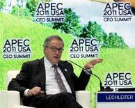 Eli Lily and Company's President and CEO John Lechleiter speaks during the APEC CEO summit in Honolulu, Hawaii November 11, 2011. REUTERS/Chris Wattie