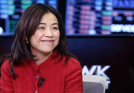 Selina Lo, President and CEO of of Ruckus Wireless, gives an interview on the floor of the New York Stock Exchange, November 16, 2012. REUTERS/Brendan McDermid