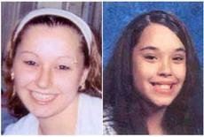 Комбинированное фото пропавших примерно 10 лет назад Аманды Марии Берри (слева) и Джины Дехесус, 6 мая 2013 года. Три женщины из штата Огайо, пропавшие без вести около 10 лет назад, были найдены живыми в доме в Кливленде неподалеку от того места, где их видели в последний раз, а по подозрению в их похищении полиция задержала трех братьев. REUTERS/FBI/Handout via Reuters