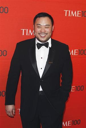 Chef David Chang arrives at the Time 100 Gala in New York, April 24, 2012. REUTERS/Lucas Jackson