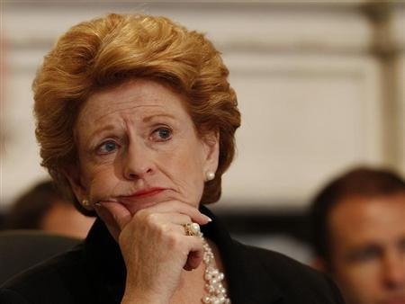 Senator Debbie Stabenow (D-MI), the chairwoman of the Senate Agriculture Committee, listens to testimony from witnesses in hearings concerning MF Global and the Peregrine Association in Washington August 1, 2012. REUTERS/Gary Cameron