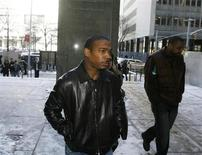 Rapper Ja-Rule arrives at Manhattan Criminal Court for a hearing in New York March 4, 2009. REUTERS/Lucas Jackson