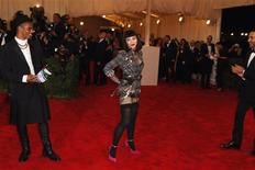 "Singer Madonna arrives at the Metropolitan Museum of Art Costume Institute Benefit celebrating the opening of ""PUNK: Chaos to Couture"" in New York, May 6, 2013. REUTERS/Lucas Jackson"
