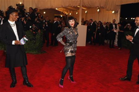 Singer Madonna arrives at the Metropolitan Museum of Art Costume Institute Benefit celebrating the opening of ''PUNK: Chaos to Couture'' in New York, May 6, 2013. REUTERS/Lucas Jackson