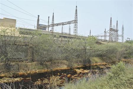A view shows the backyard of Sterlite Industries Ltd's copper plant in Tuticorin, in Tamil Nadu April 7, 2013. REUTERS/Stringer/Files