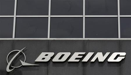 The Boeing logo is seen at their headquarters in Chicago, April 24, REUTERS/Jim Young